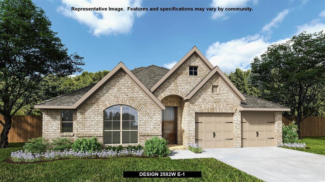 New Home Design, 2,582 sq. ft., 4 bed / 3.0 bath, 2-car garage