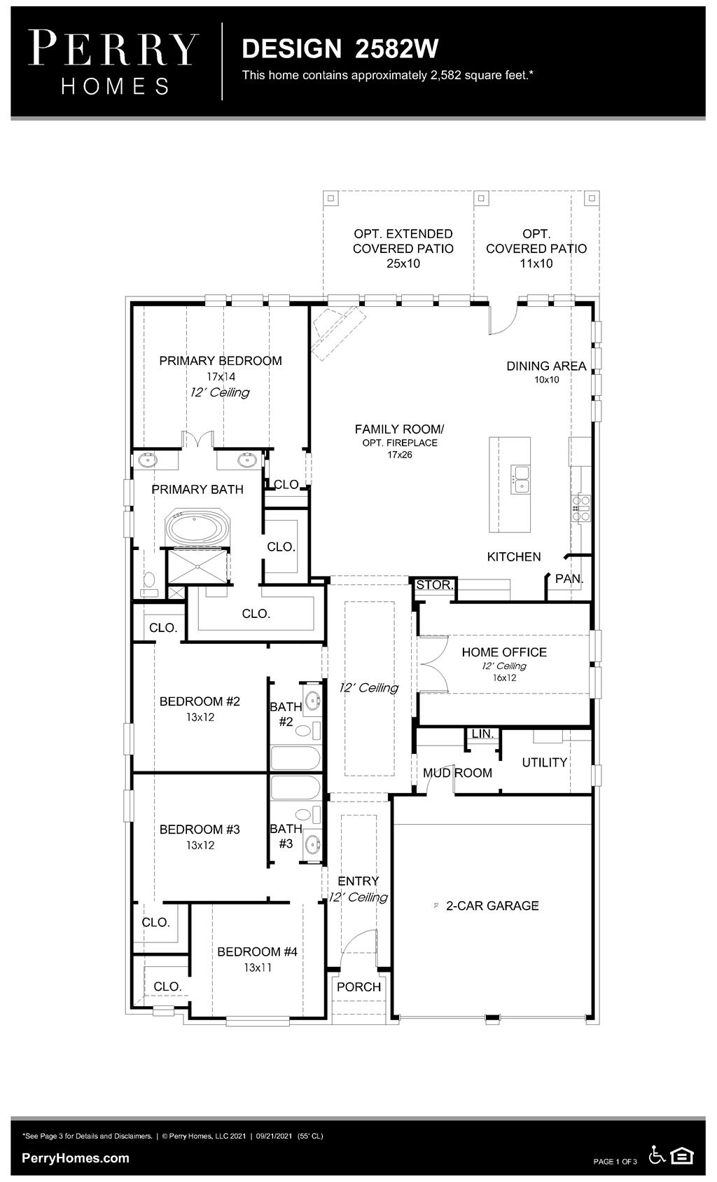 Floor Plan for 2582W