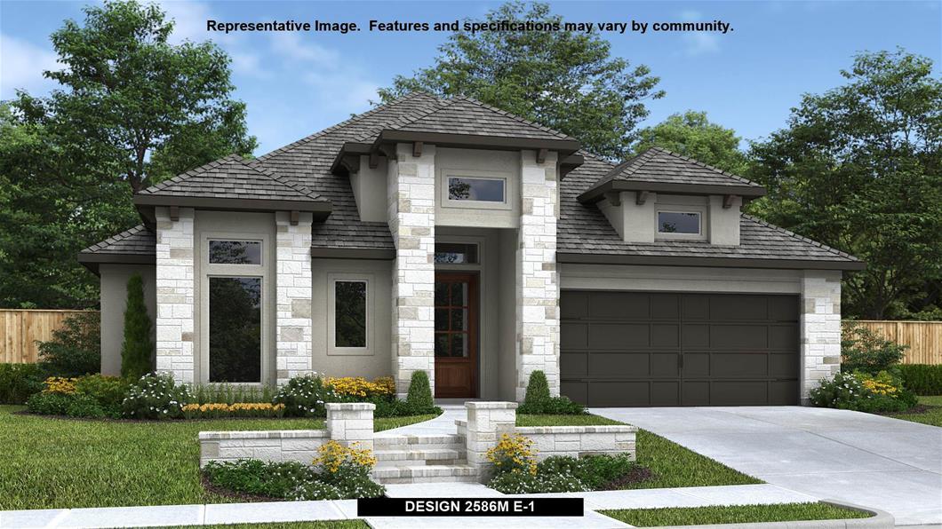 New Home Design, 2,586 sq. ft., 4 bed / 3.0 bath, 2-car garage
