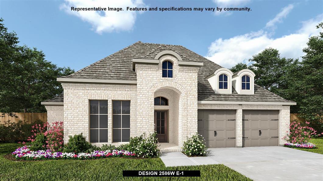 Design 2586W-E1 23613 silver palm trail