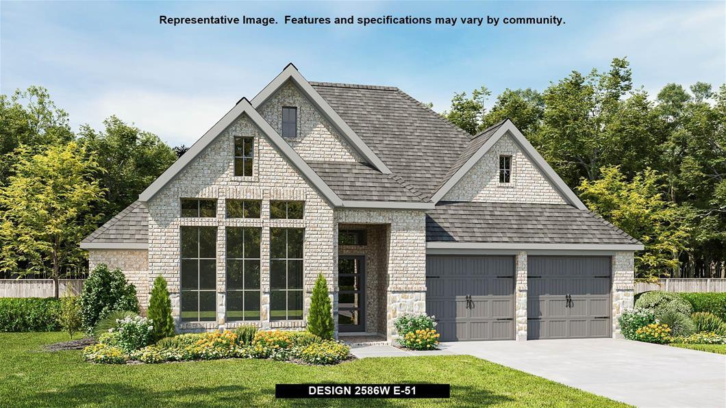 New Home Design, 2,586 sq. ft., 4 bed / 3.5 bath, 2-car garage