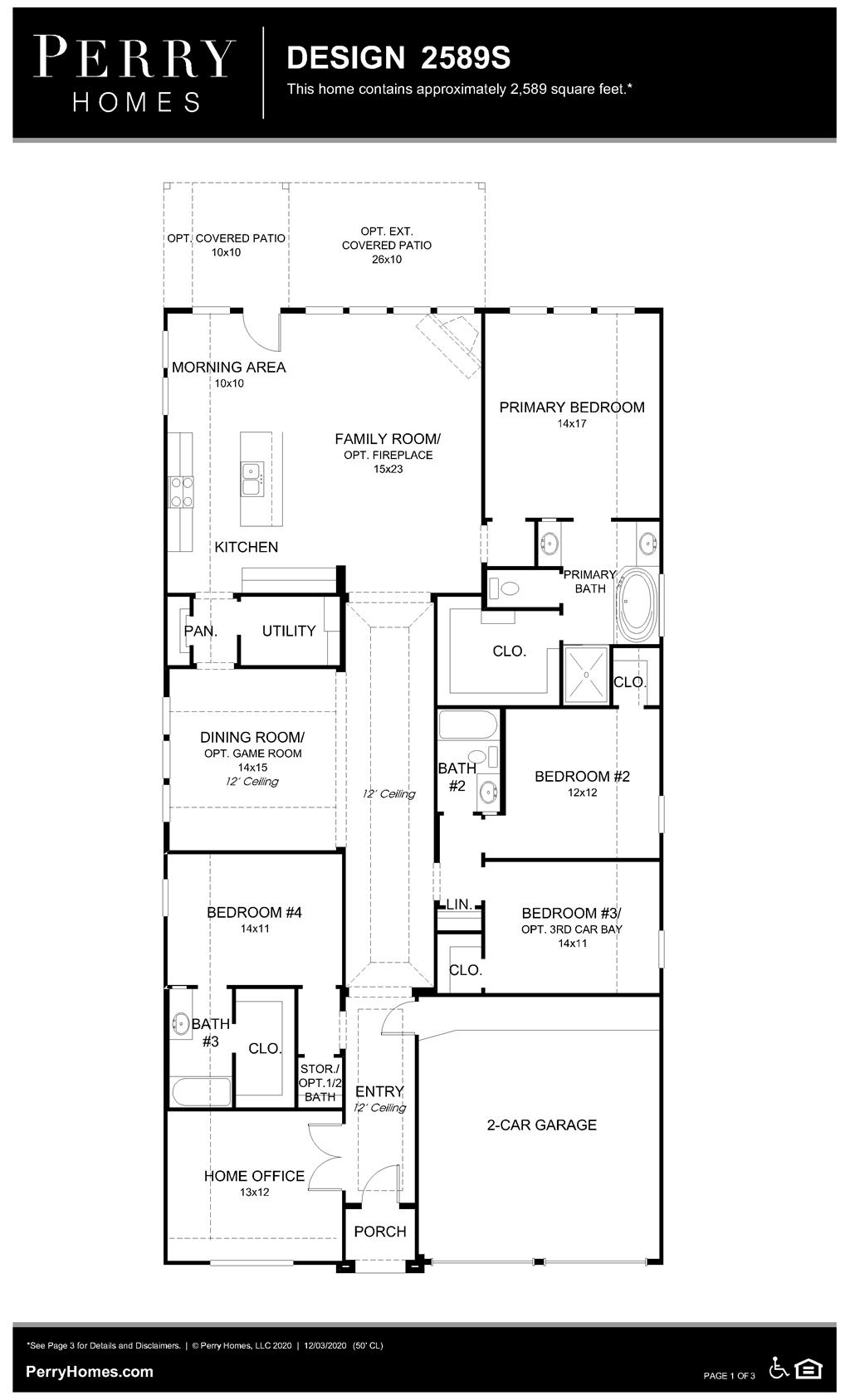 Floor Plan for 2589S