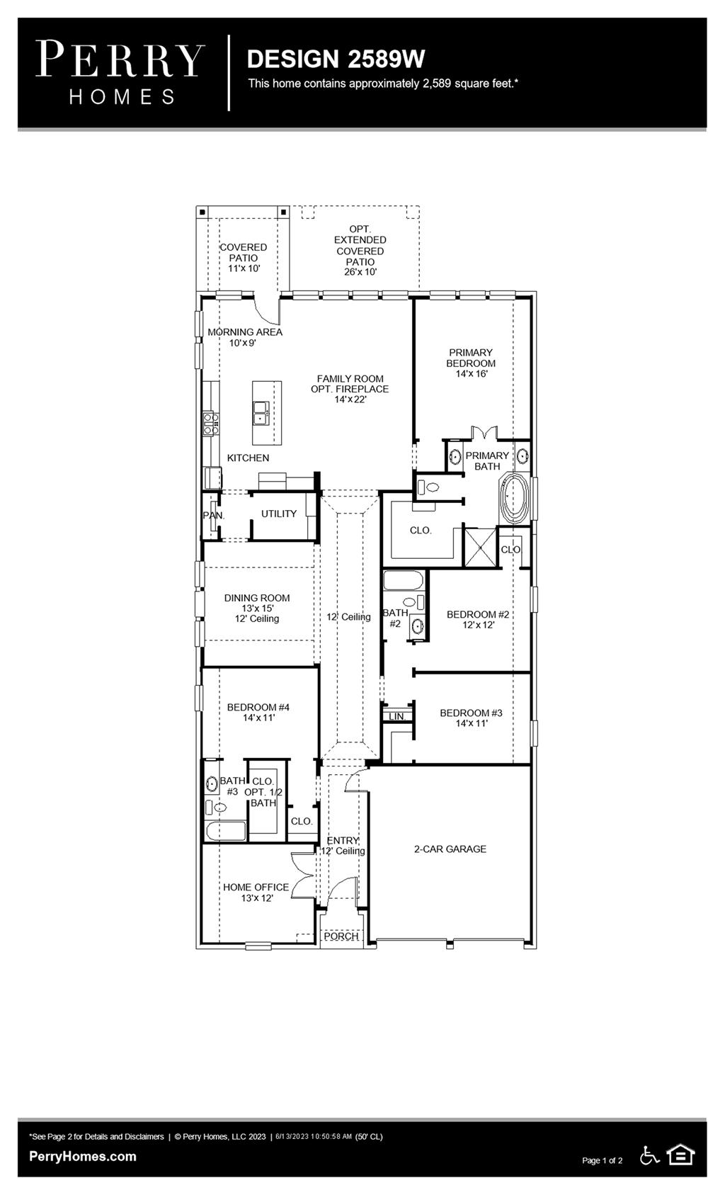 Floor Plan for 2589W