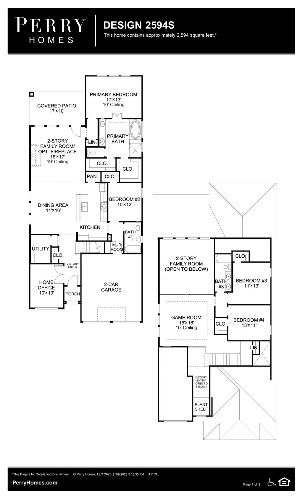 Floor Plan for 2594S