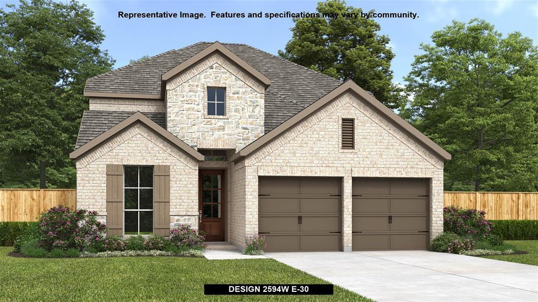 New Home Design, 2,594 sq. ft., 4 bed / 3.0 bath, 2-car garage
