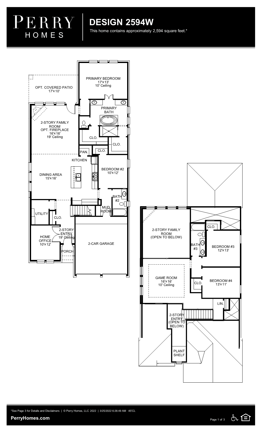 Floor Plan for 2594W