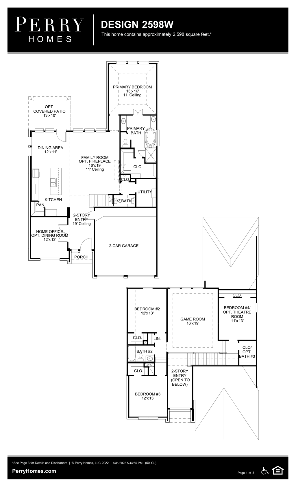 Floor Plan for 2598W