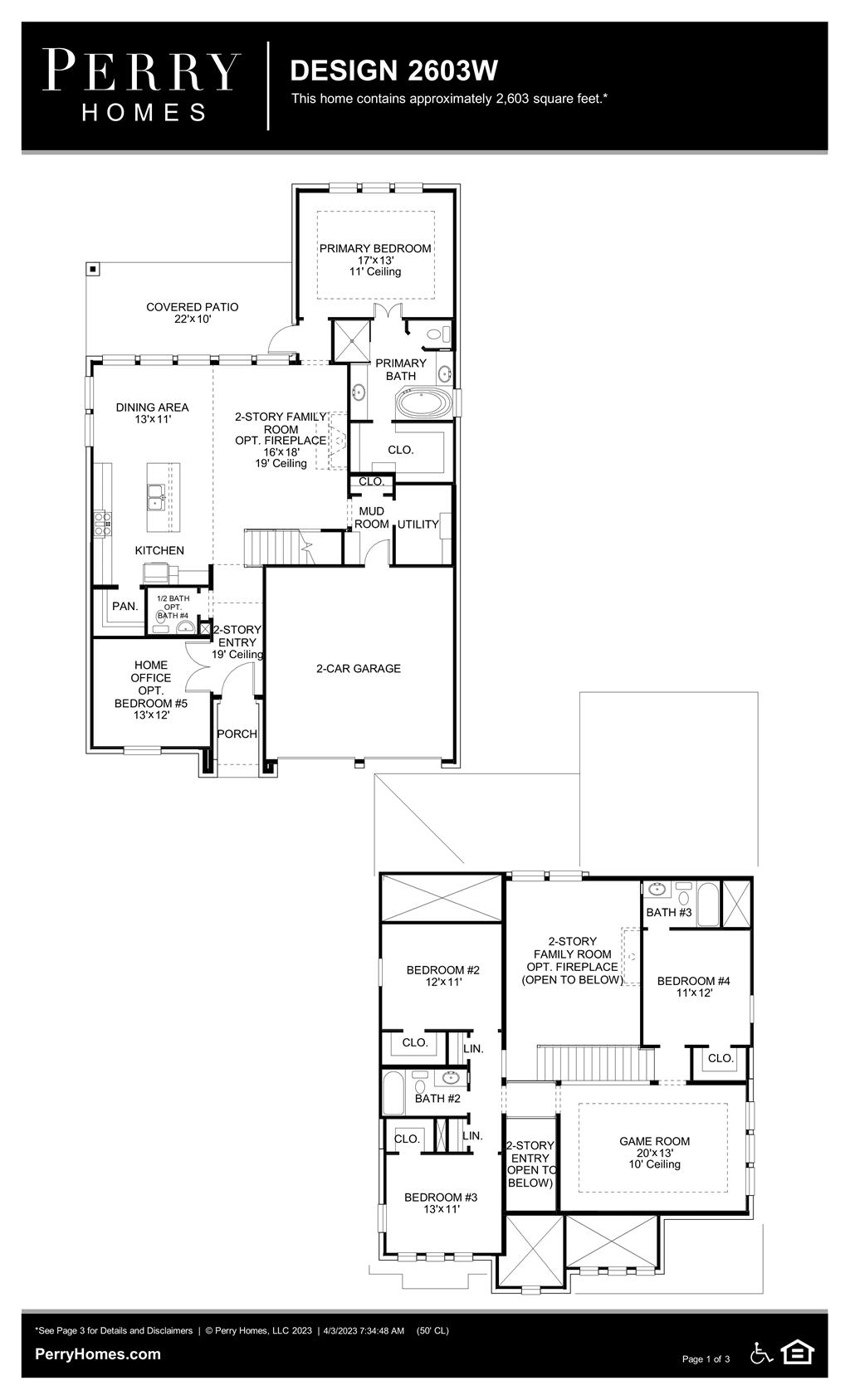 Floor Plan for 2603W