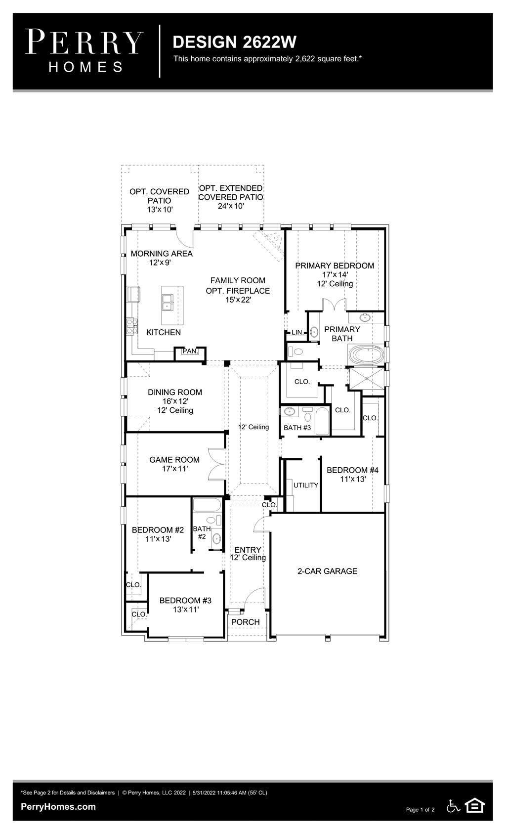 Floor Plan for 2622W