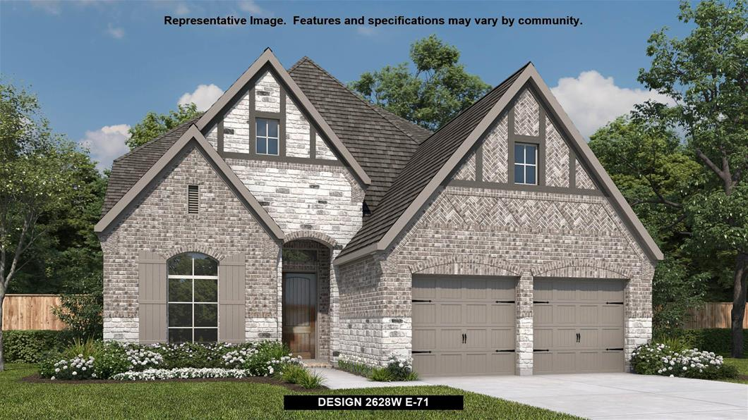 New Home Design, 2,628 sq. ft., 4 bed / 3.0 bath, 2-car garage