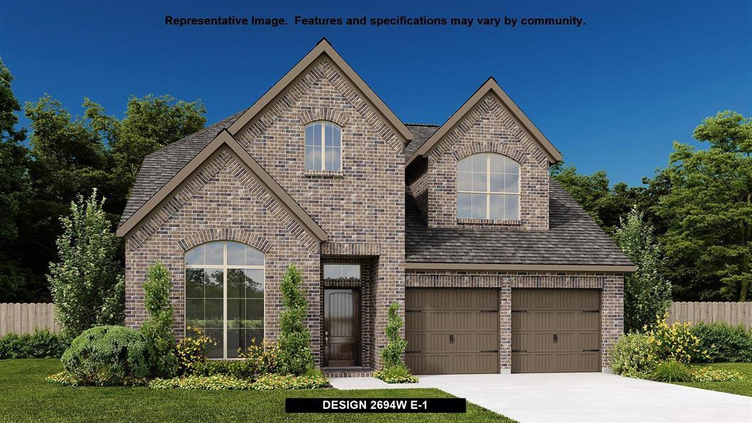 New Home Design, 2,694 sq. ft., 4 bed / 3.0 bath, 2-car garage