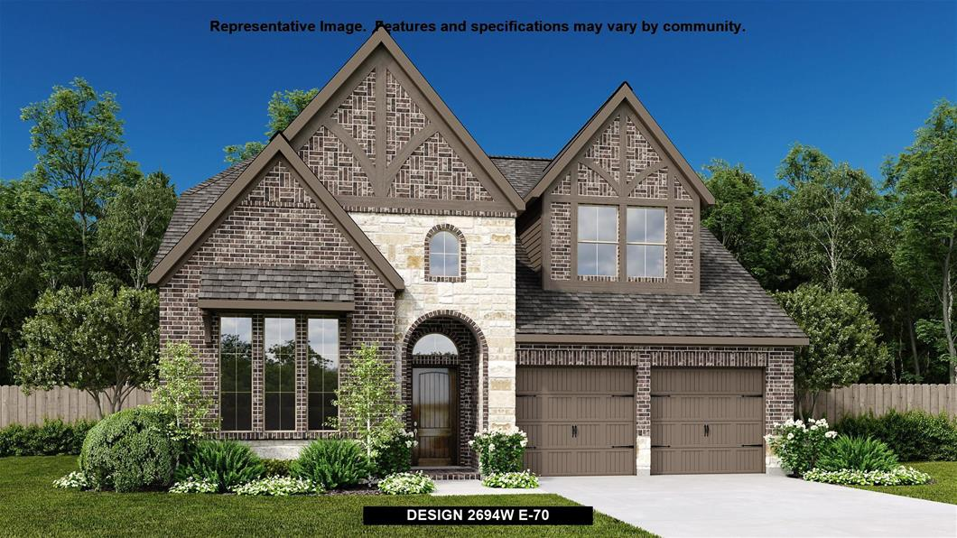 New Home Design, 2,694 sq. ft., 4 bed / 3.5 bath, 2-car garage