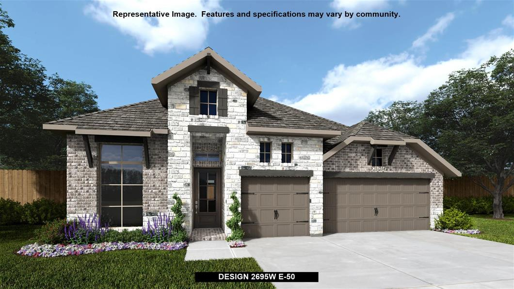 New Home Design, 2,695 sq. ft., 4 bed / 3.5 bath, 3-car garage