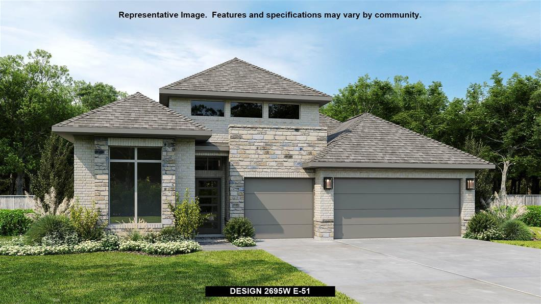 New Home Design, 2,695 sq. ft., 4 bed / 3.0 bath, 3-car garage