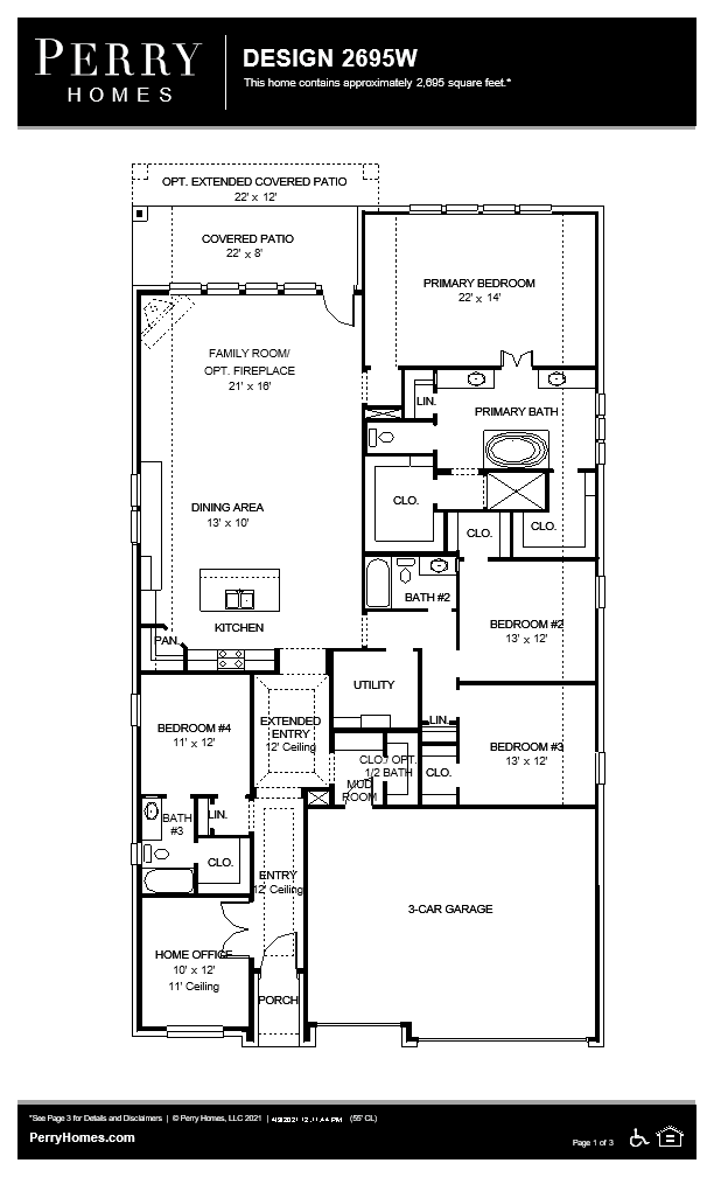 Floor Plan for 2695W