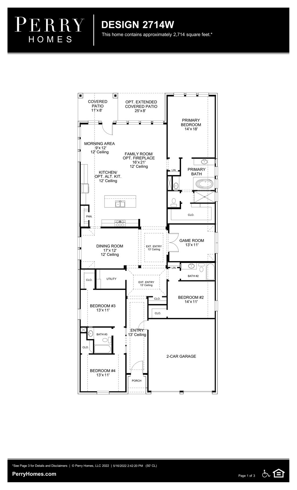 Floor Plan for 2714W
