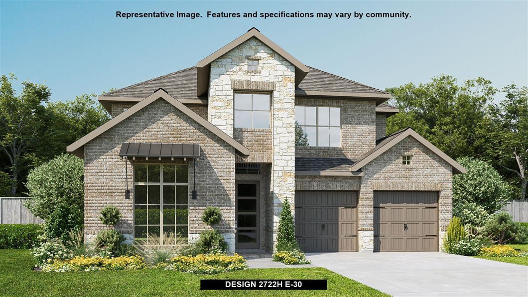 New Home Design, 2,722 sq. ft., 4 bed / 3.0 bath, 2-car garage