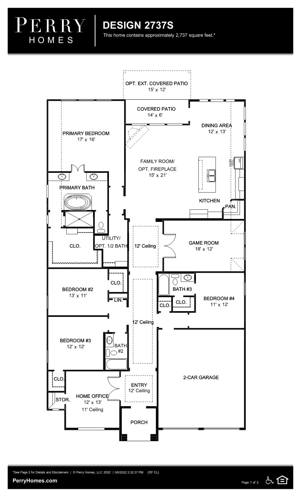 Floor Plan for 2737S