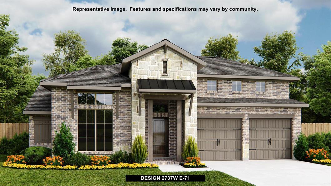 New Home Design, 2,737 sq. ft., 4 bed / 3.5 bath, 2-car garage
