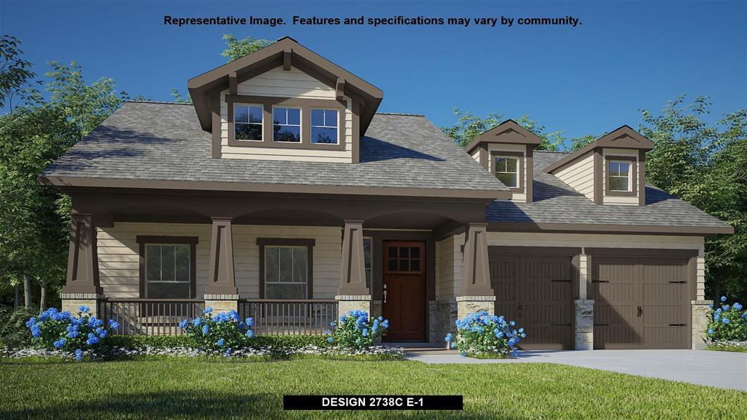 New Home Design, 2,738 sq. ft., 4 bed / 3.0 bath, 2-car garage