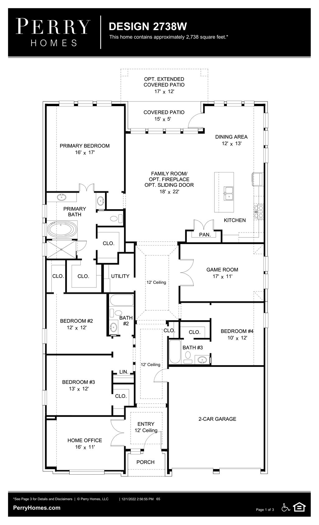 Floor Plan for 2738W