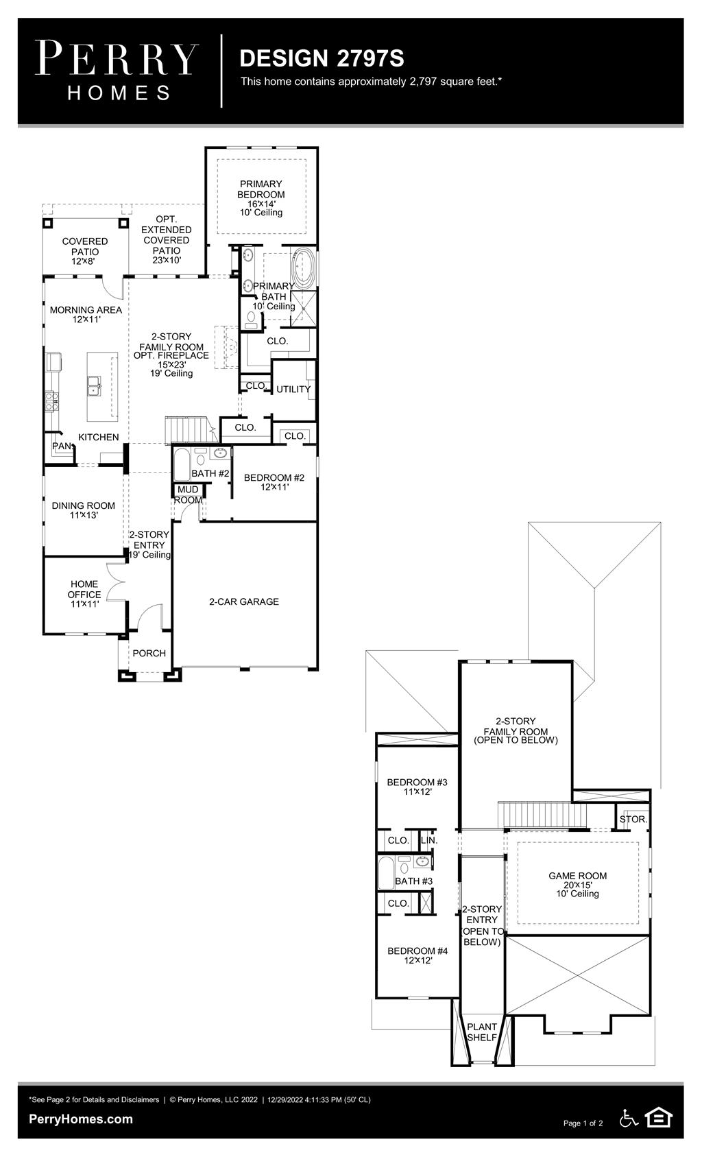 Floor Plan for 2797S