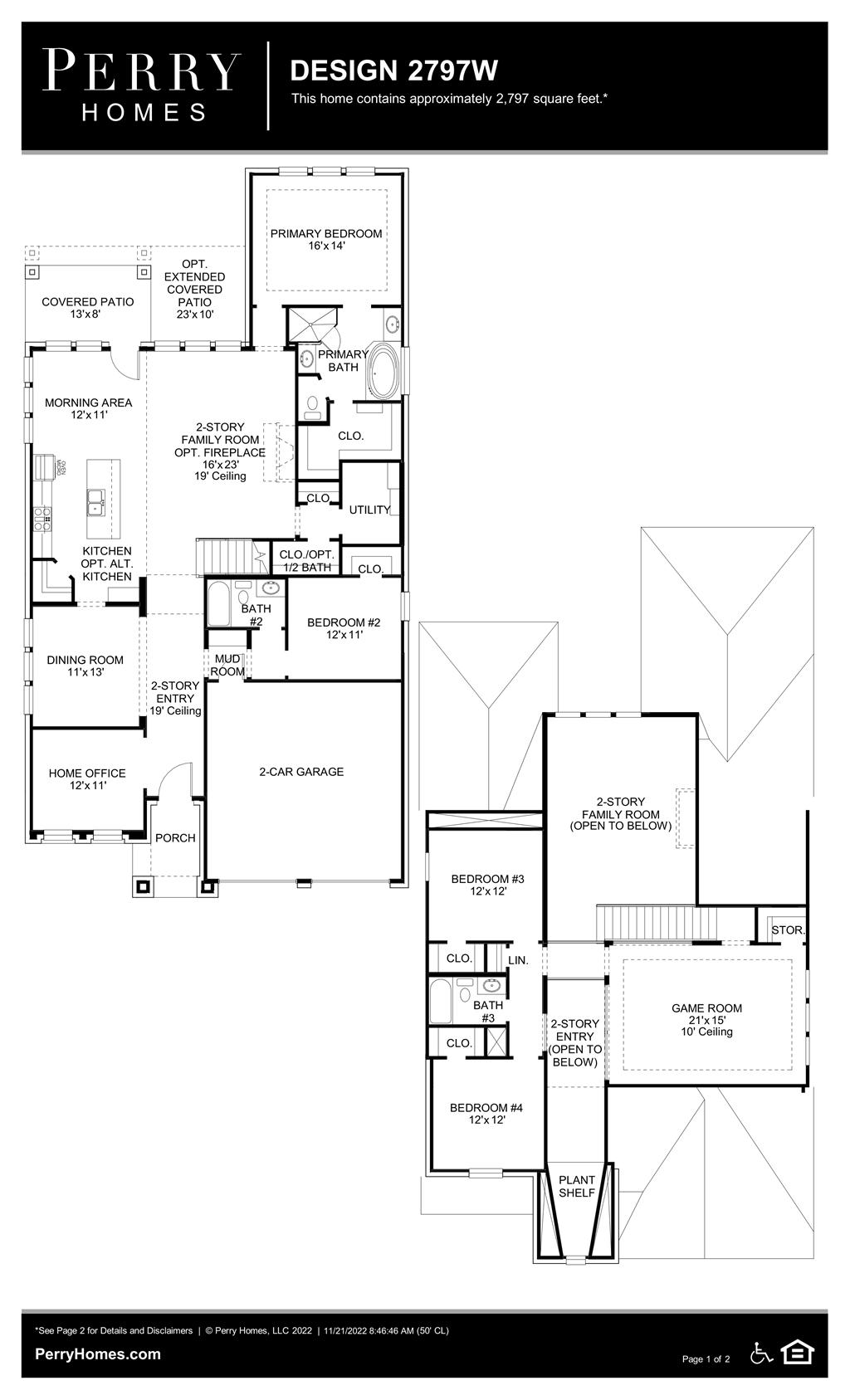 Floor Plan for 2797W