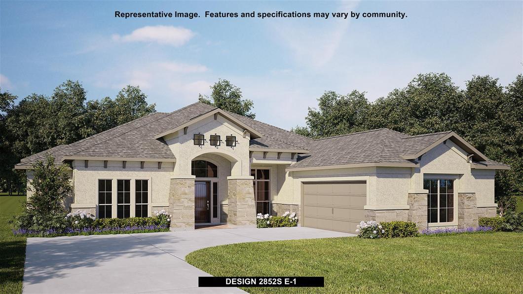 New Home Design, 2,852 sq. ft., 4 bed / 3.0 bath, 2-car garage