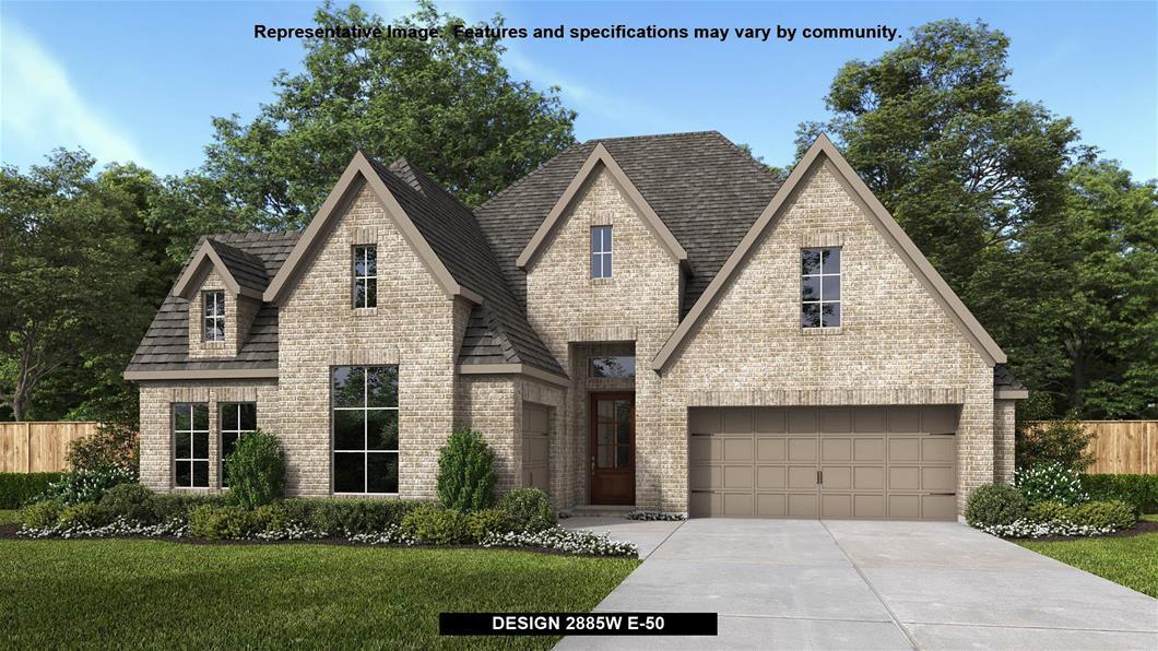 New Home Design, 2,885 sq. ft., 4 bed / 3.5 bath, 3-car garage