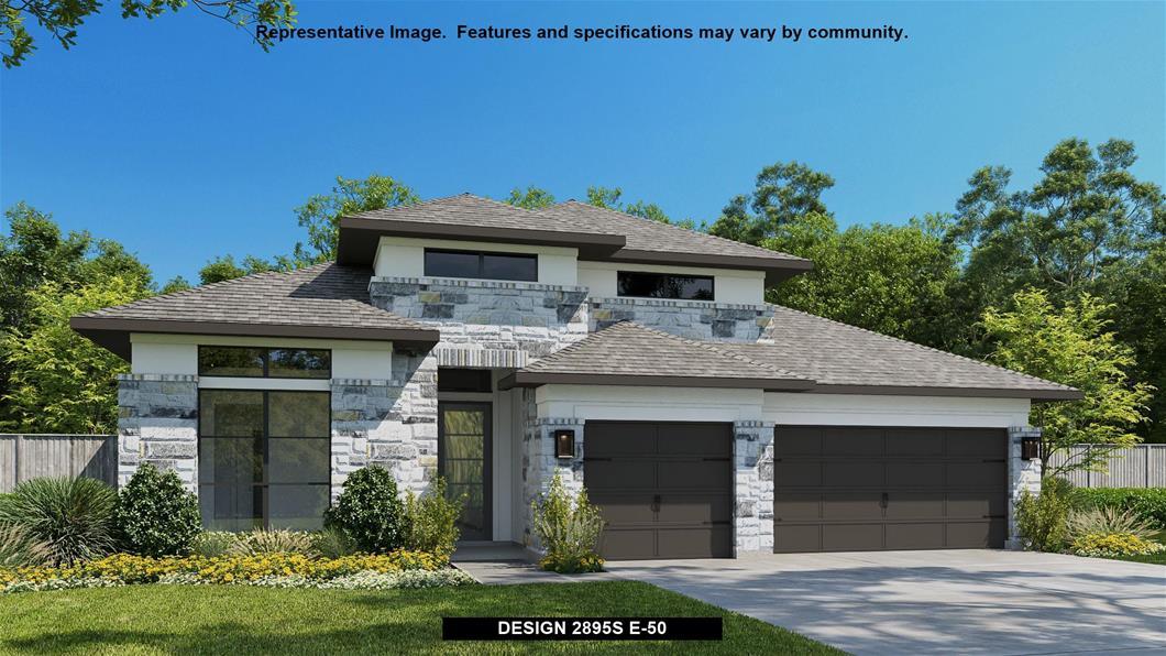 New Home Design, 2,895 sq. ft., 4 bed / 3.5 bath, 3-car garage