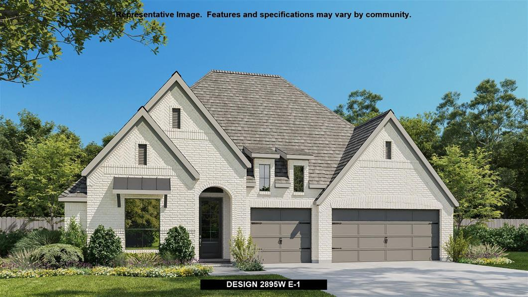 New Home Design, 2,895 sq. ft., 4 bed / 3.0 bath, 3-car garage