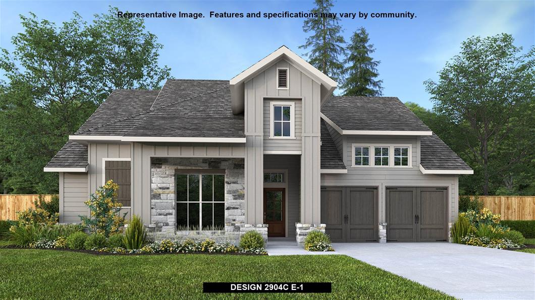 New Home Design, 2,904 sq. ft., 4 bed / 3.0 bath, 3-car garage