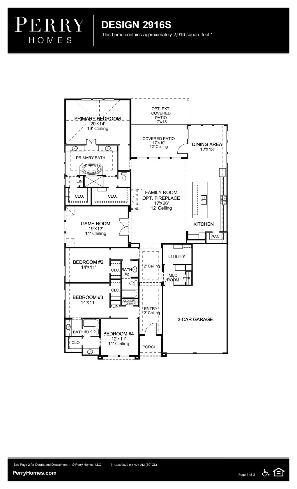 Floor Plan for 2916S