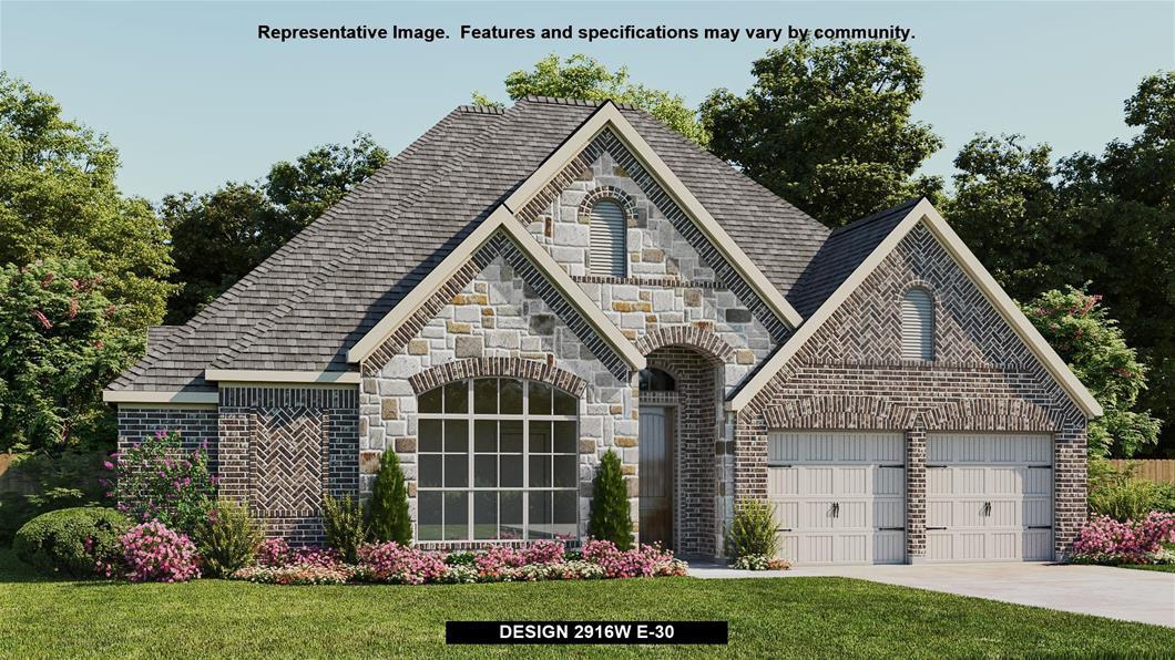 New Home Design, 2,916 sq. ft., 4 bed / 3.5 bath, 3-car garage