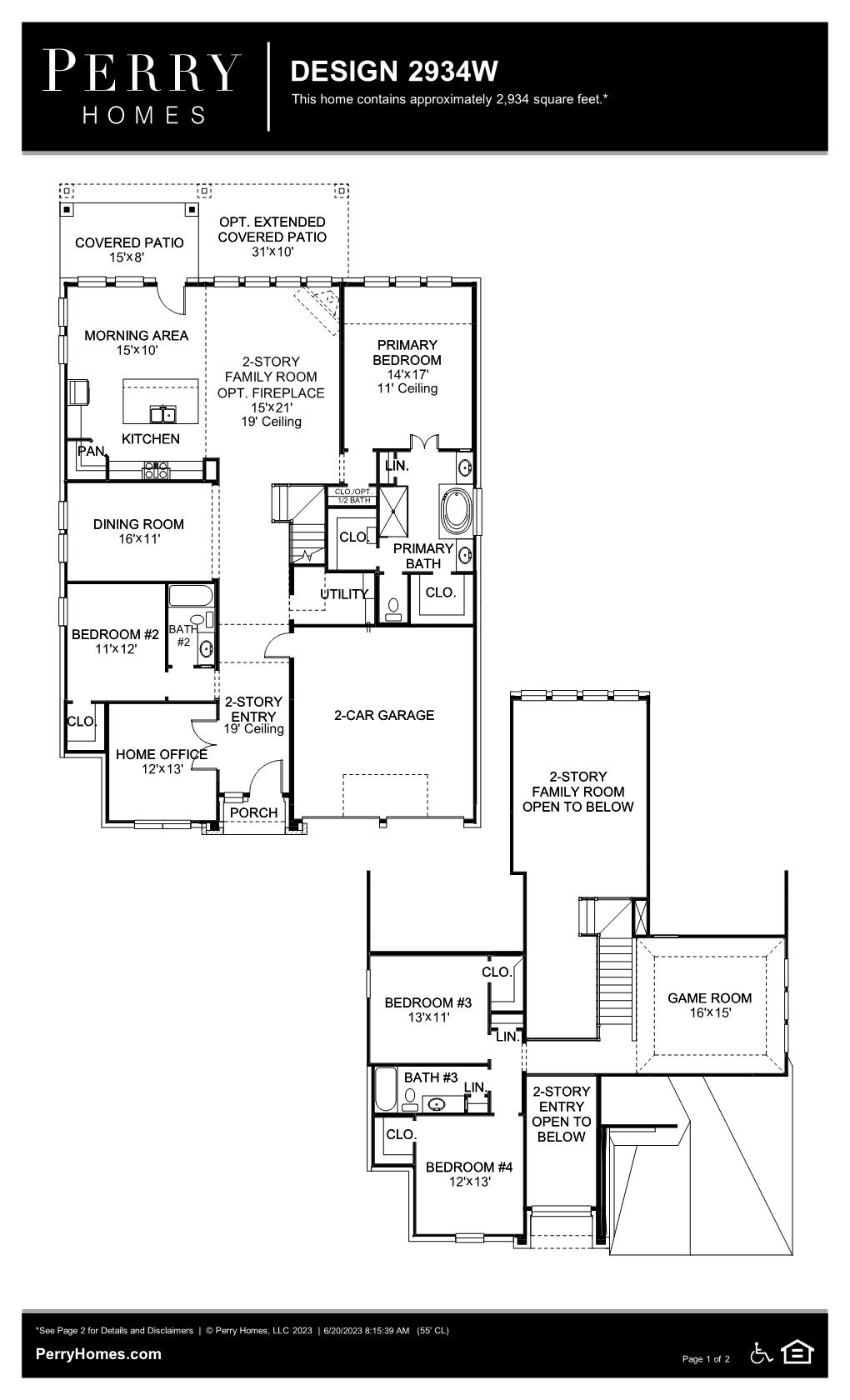 Floor Plan for 2934W