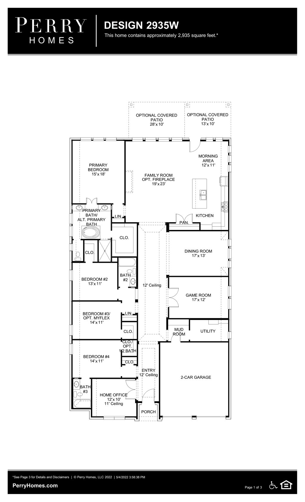 Floor Plan for 2935W