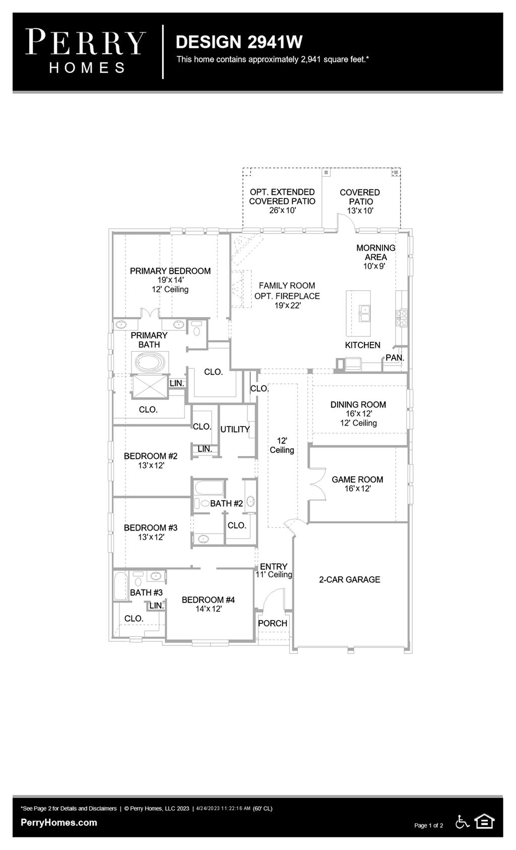 Floor Plan for 2941W