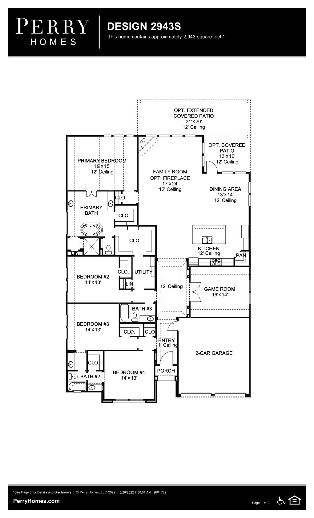 Floor Plan for 2943S