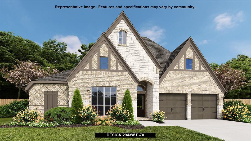 New Home Design, 2,943 sq. ft., 4 bed / 3.5 bath, 3-car garage