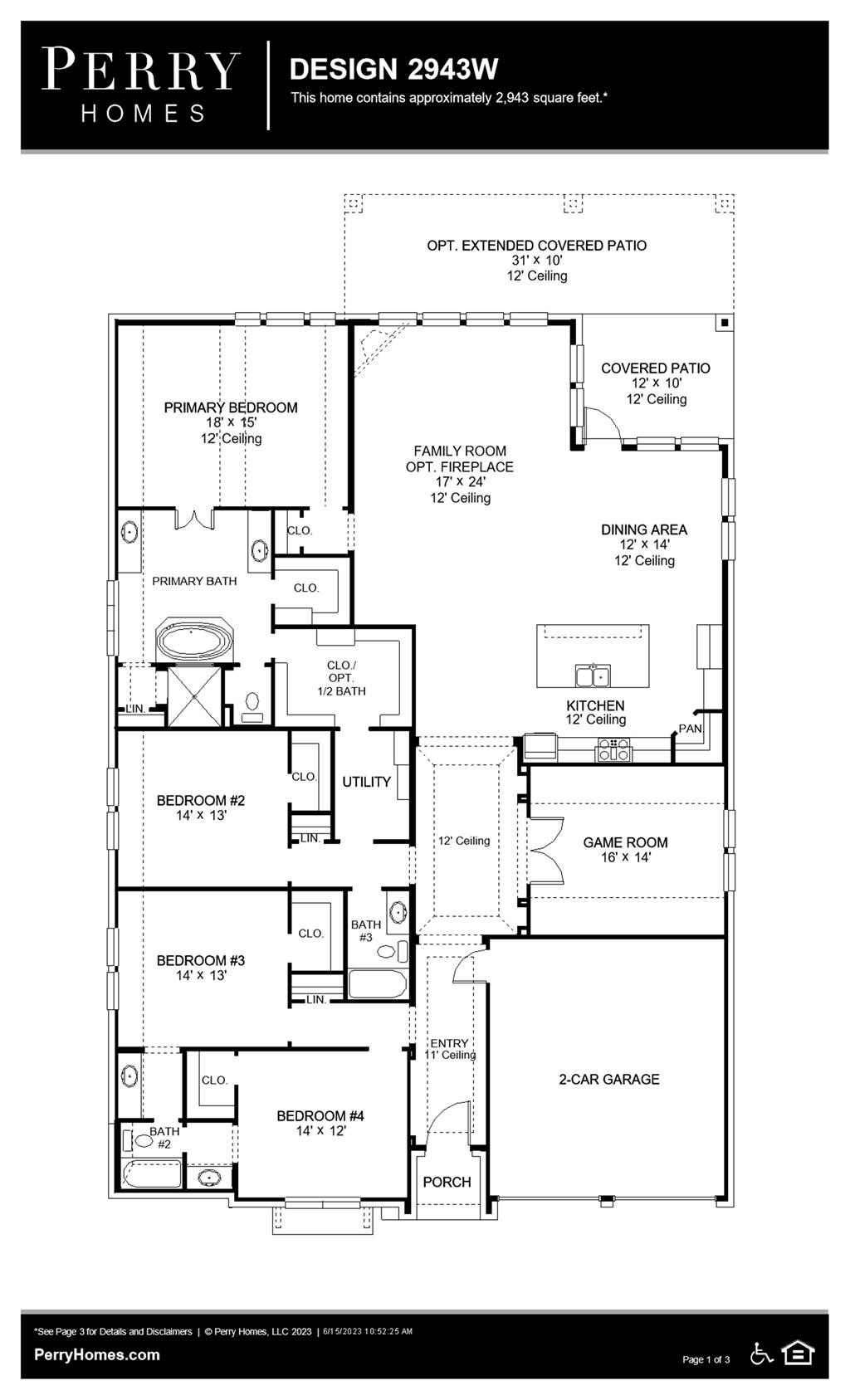 Floor Plan for 2943W