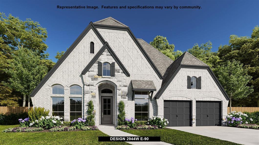 New Home Design, 2,944 sq. ft., 4 bed / 3.5 bath, 3-car garage