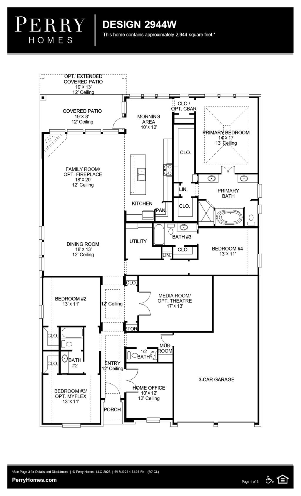 Floor Plan for 2944W