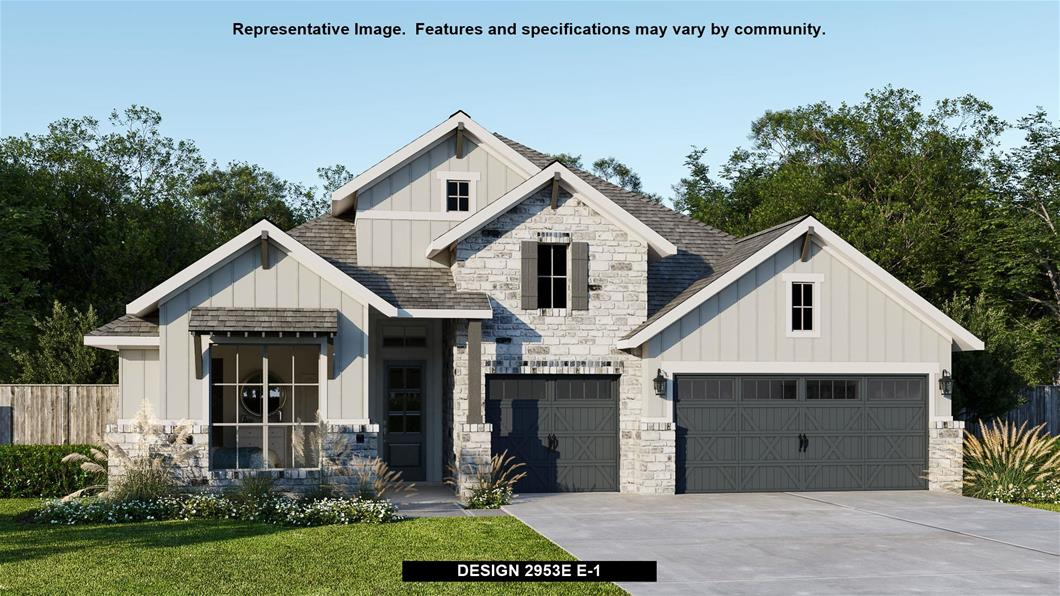 New Home Design, 2,953 sq. ft., 4 bed / 3.0 bath, 3-car garage