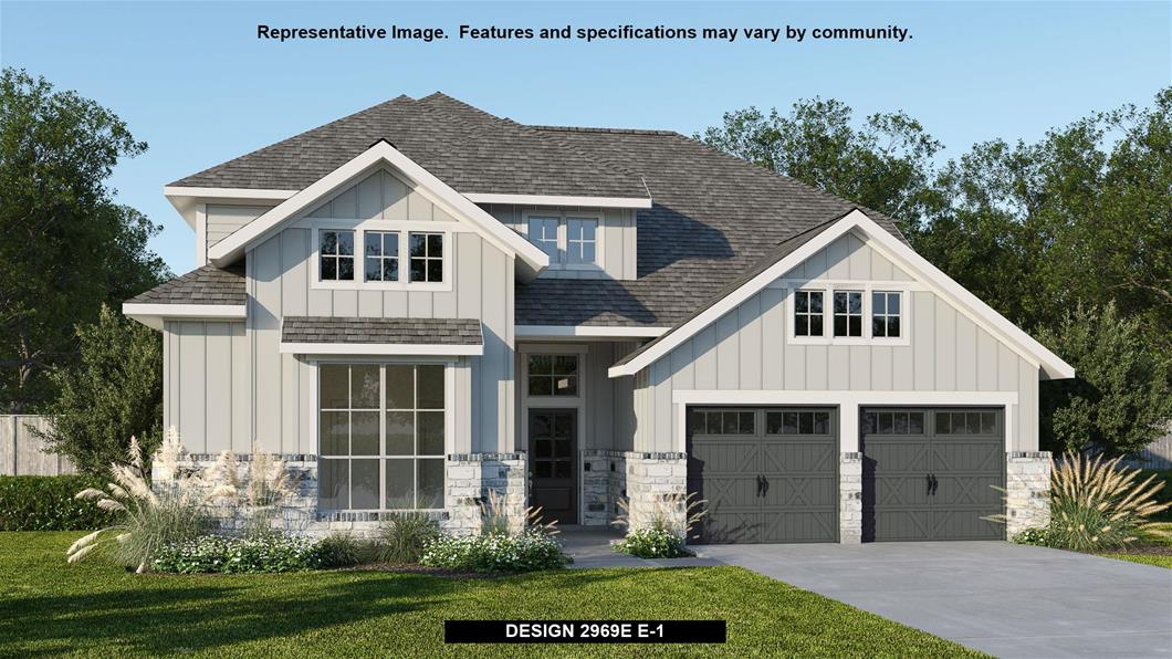 New Home Design, 2,969 sq. ft., 4 bed / 3.5 bath, 3-car garage