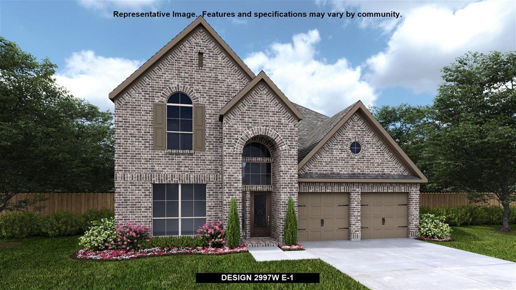 New Home Design, 2,997 sq. ft., 4 bed / 3.5 bath, 3-car garage