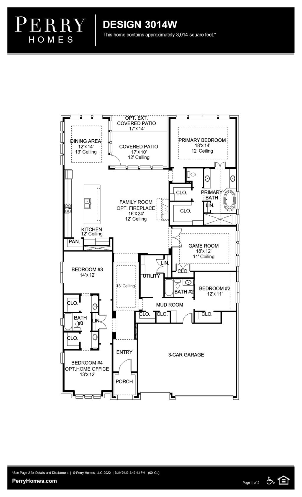 Floor Plan for 3014W