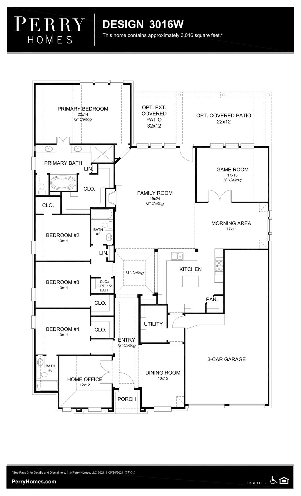 Floor Plan for 3016W
