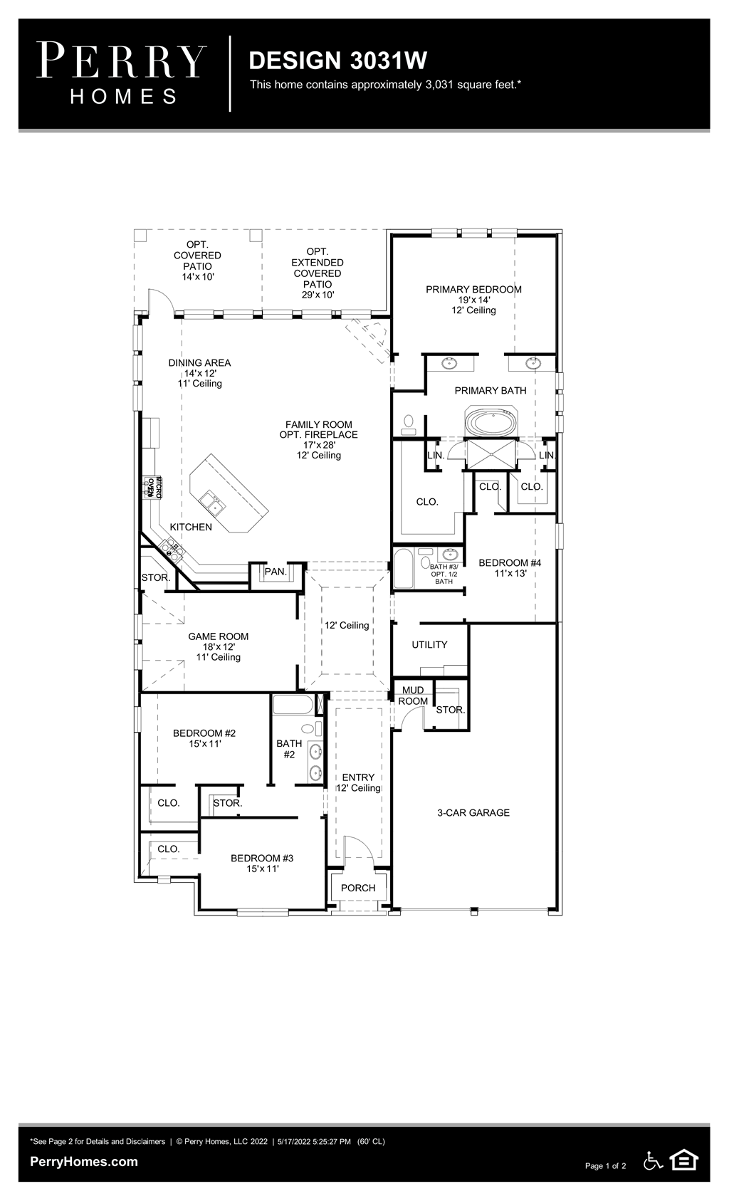 Floor Plan for 3031W