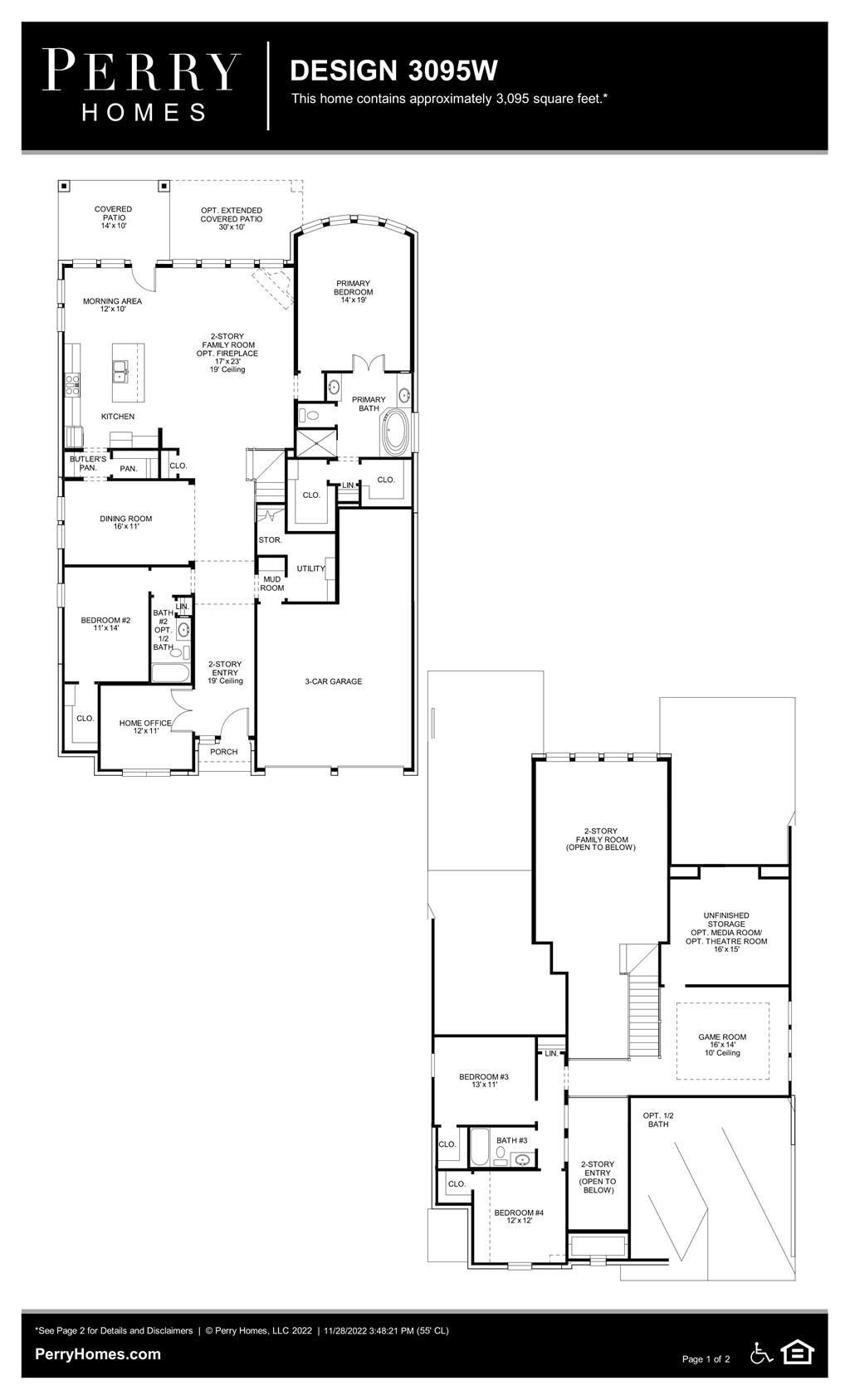 Floor Plan for 3095W