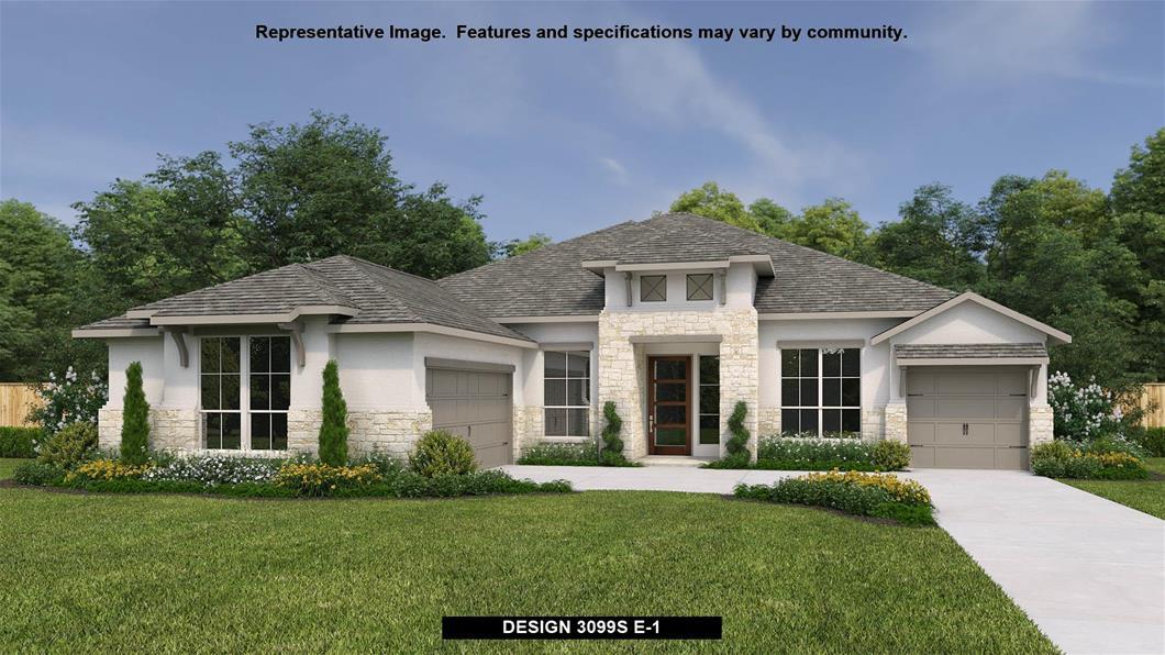 New Home Design, 3,099 sq. ft., 4 bed / 3.0 bath, 3-car garage
